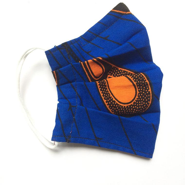 Elastic Ear Loop Pleated Mask: Blue