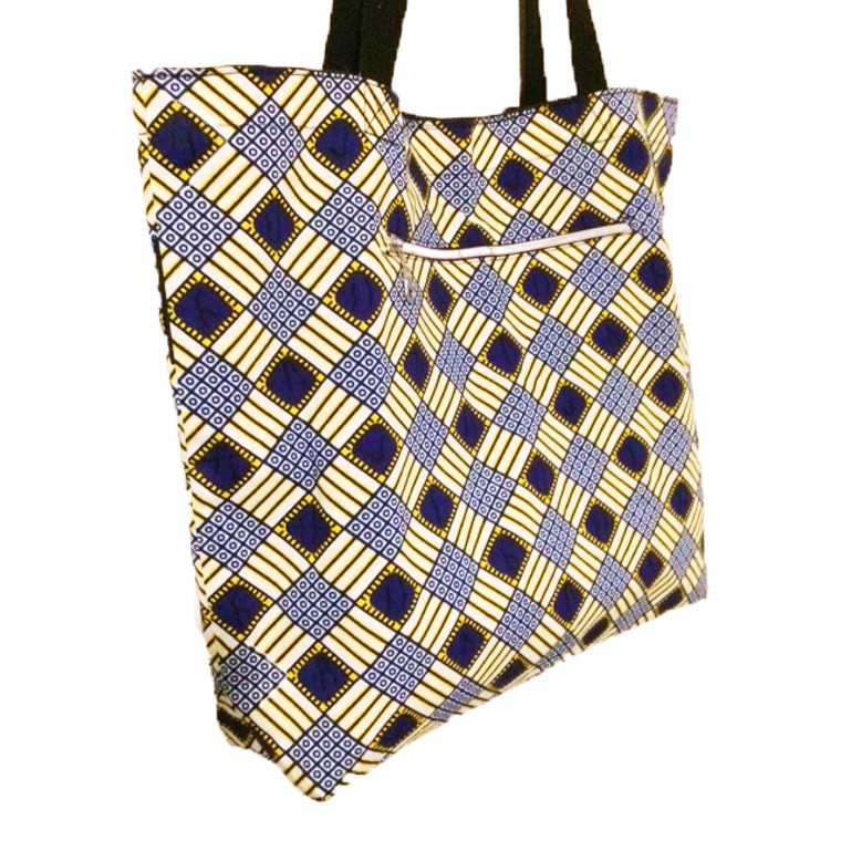 Reversible Tote: Yellow and Blue