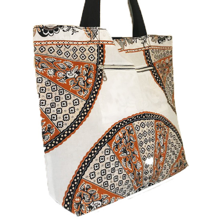 Reversible Tote:  Caramel Lace
