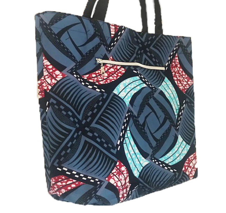 Reversible Tote:  Blueberry