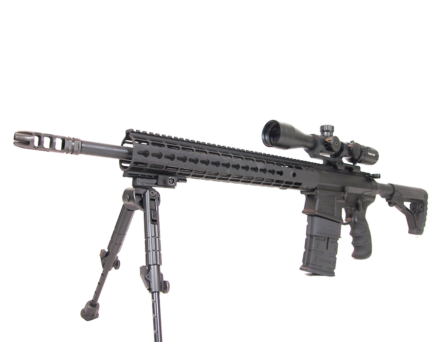 AR-10 CompMag with tall bipod