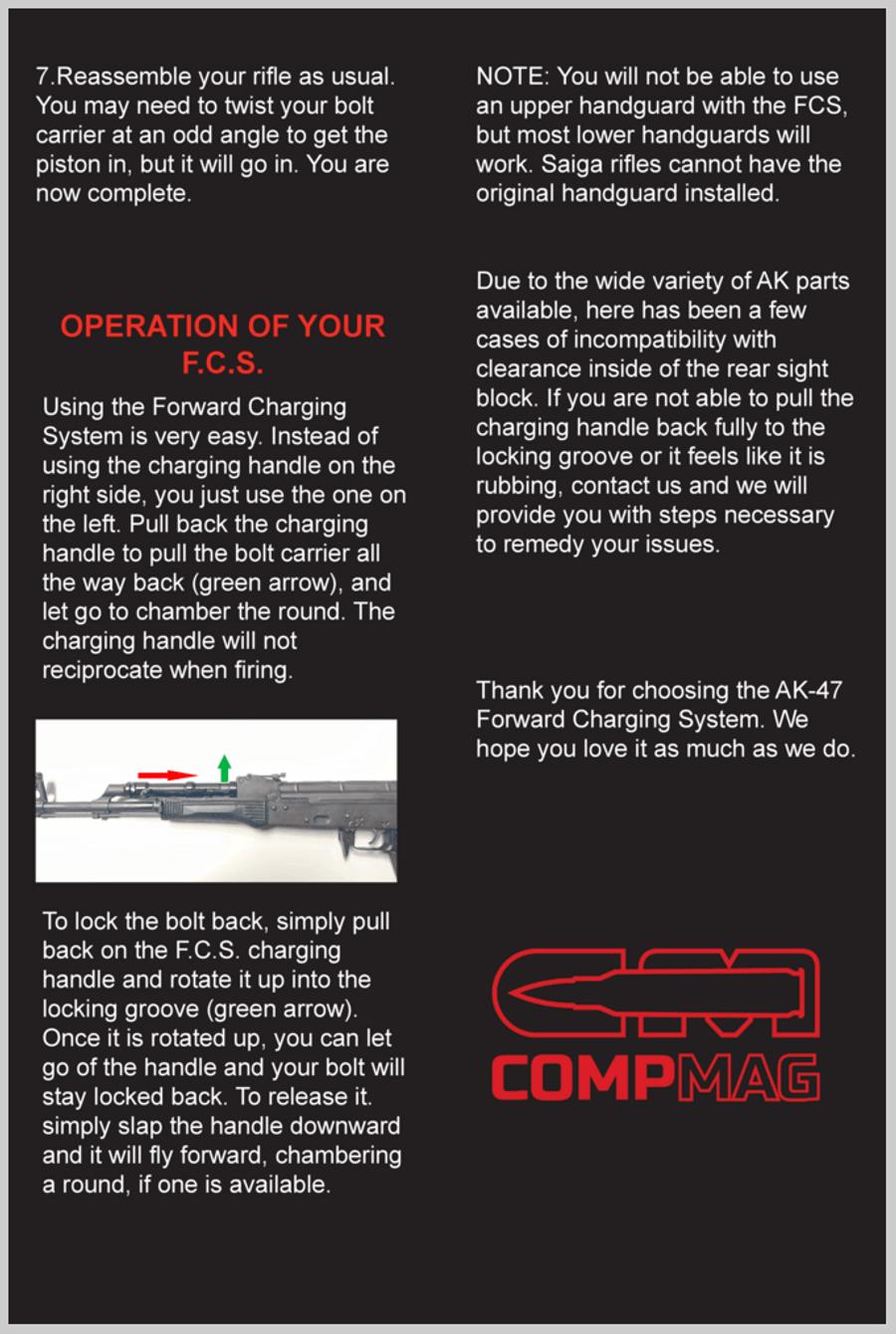Forward charging ak CompMag