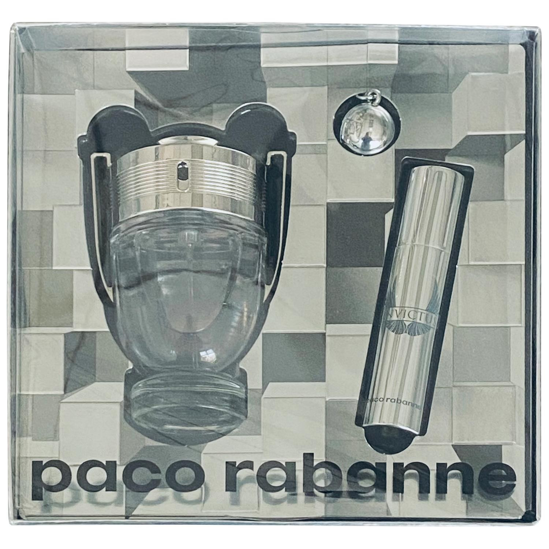 Paco Rabanne Invictus Gift Set - Eau de Toilette 50ml Spray, 10ml Travel Spray + Key Ring