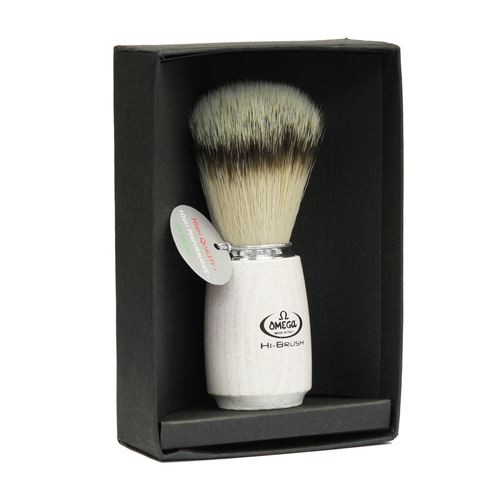 Omega Hi-brush Synthetic Badger Brush (ash wooden handle) 46711