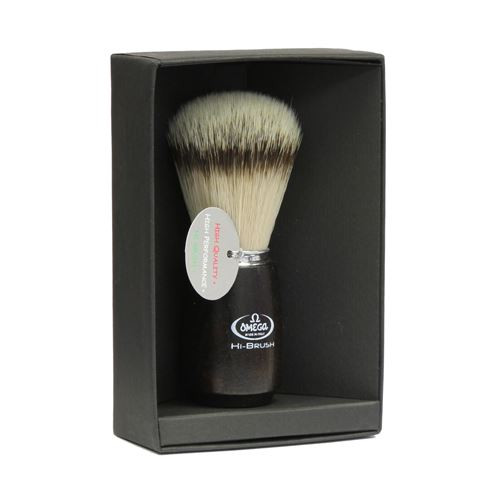 Omega Hi-brush Synthetic Badger Brush (dark ash handle) 46712