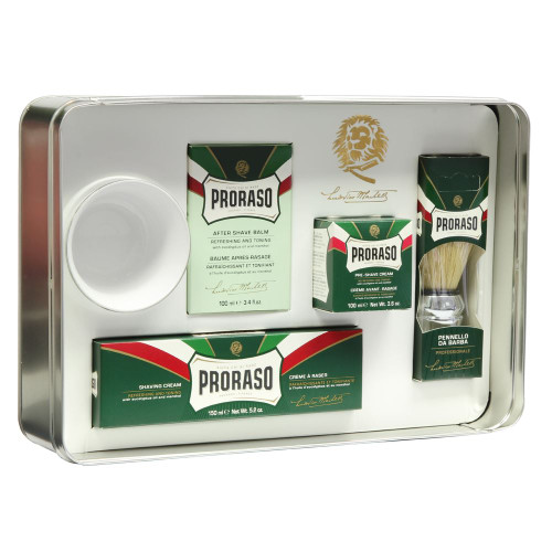 Proraso 5 piece Classic Shave Set in Tin