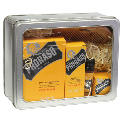 Proraso Wood and Spice 5 piece Beard Kit