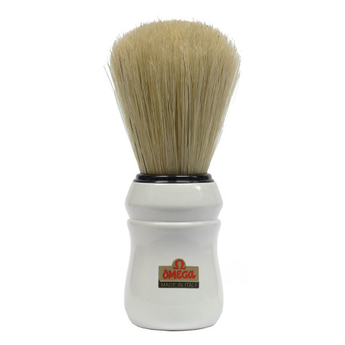 Omega White Shaving Brush