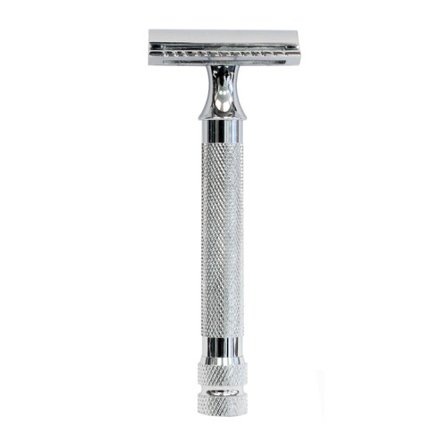 Parker 91R Chrome Texture Handle Safety Razor