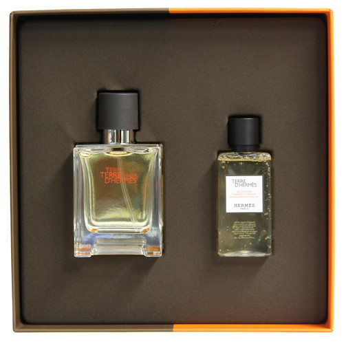 Hermes D'Terre 2 piece Gift Set - Eau de Toilette 50ml Spray + Shower Gel