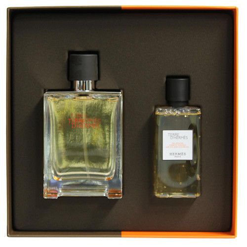 Hermes D'Terre 2 piece Gift Set - Eau de Toilette 100ml Spray + Shower Gel