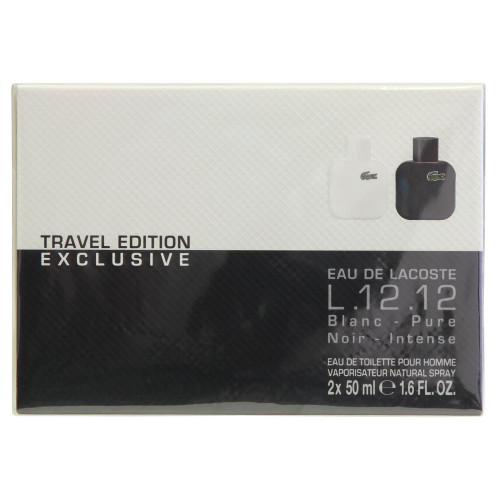 Lacoste L.12.12 Travel Edition Blanc & Noir Set
