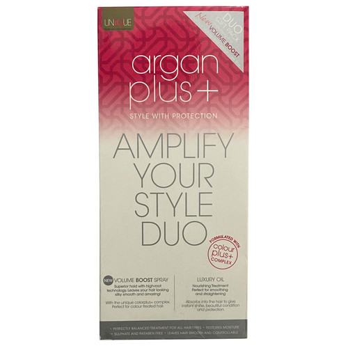 Argan Plus+ Amplify your Style Duo - Volume Boost Spray & Luxury Oil