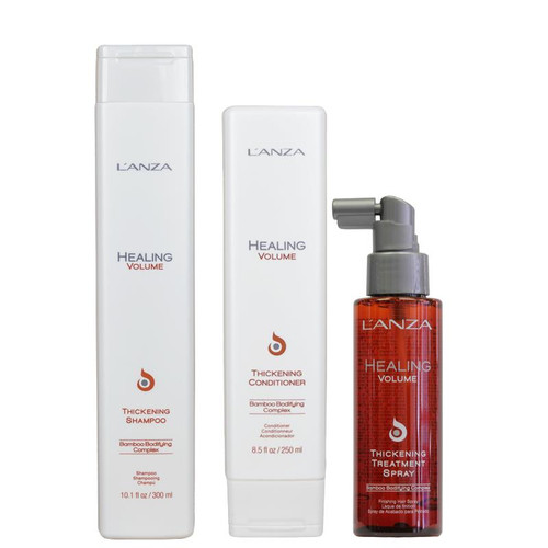 L'Anza Healing Volume Thickening Shampoo, Conditioner + Treatment