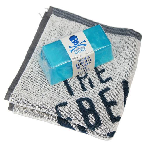 The Bluebeards Revenge Big Blue Bar Soap 175g + Flannel