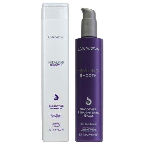 L'Anza Healing Smooth Shampoo + Smoother Straightening Balm