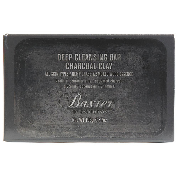 Baxter of California Deep Cleansing Bar - Charcoal Clay 198g