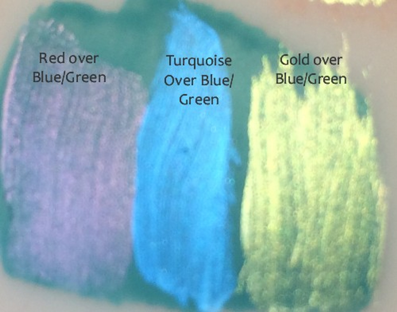 Over dried Blue-Green color