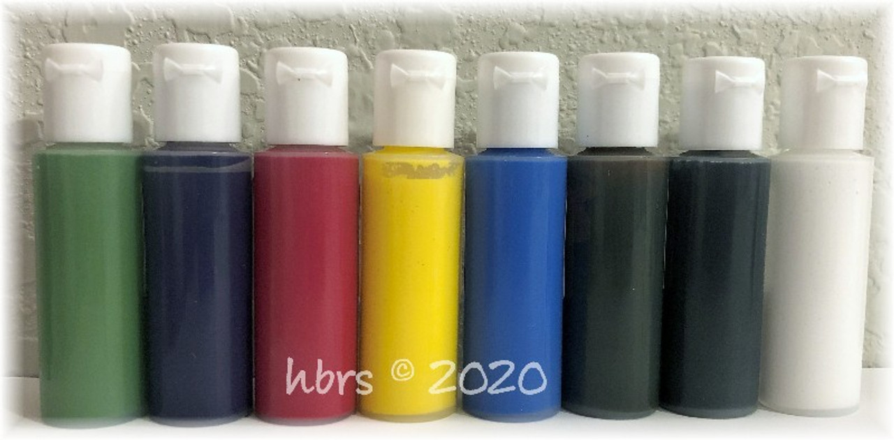 WaterBorne © BASICS Air Dry Doll Colors, Individual 1/2 oz. Bottle