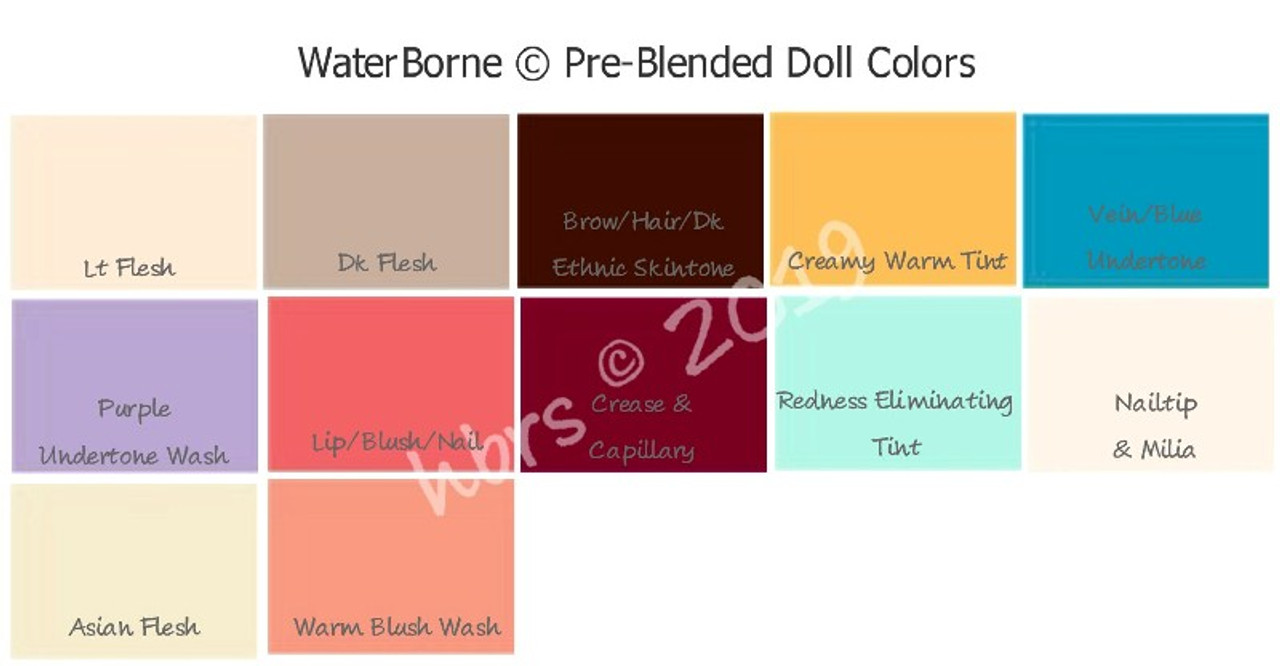 WB Pre-Blended Dollmaking Colors