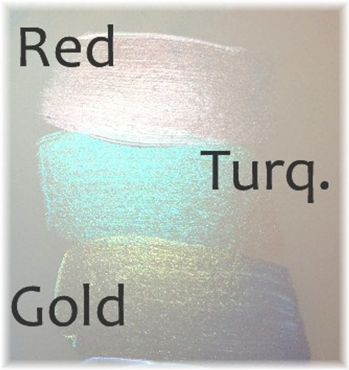 Red, Turquoise and Gold over bare vinyl
