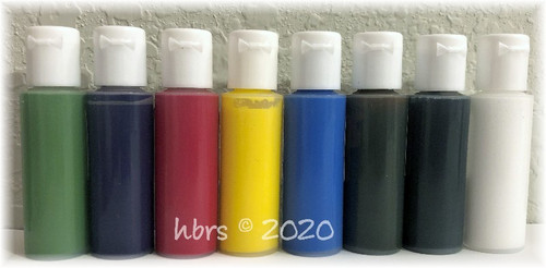 WaterBorne © Air Dry BASIC Doll Colors, Individual 1/2 oz. Bottles