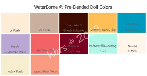 WB Pre-Blended Dollmaking Colors  (Creamy Warm Tint is now Creamy Yellow.  Redness Eliminating Tint is now Redness Corrector)