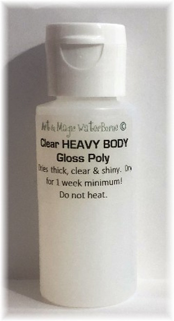 Air Dry Clear Heavy Bodied THICK GLOSS Polyurethane Varnish, 1 ounce