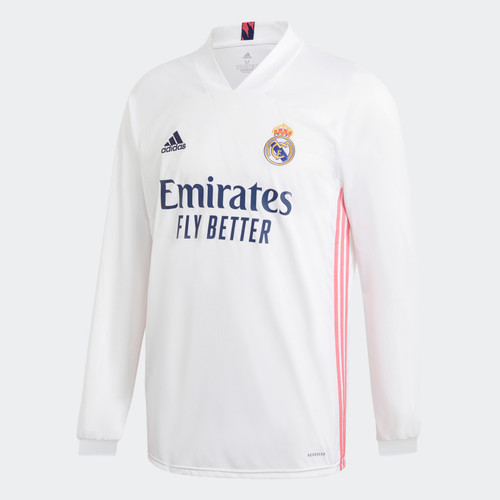 Real Madrid 2020/21 Home Jersey - Long Sleeve