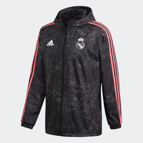 Real Madrid 2020/21 Windbreaker - Black/Pink