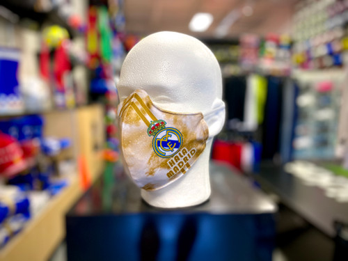 Real Madrid Facemask - White/Gold