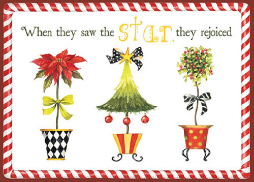 When they saw the Star they rejoiced boxed Christmas cards