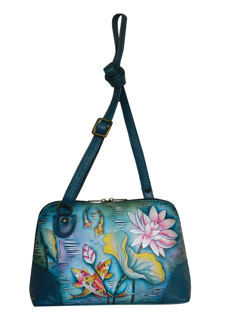 Anuschka Genuine Leather Handbag Karmic Koi