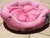 Reversible 'Princess Pink' Round Pet Bed