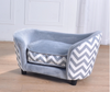 'Luxury Lounge' Pet Sofa (Grey Zebra / Chevron Print)