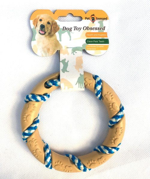 'Puppy Teething Ring' Rope & Rubber Dog Chew Toy