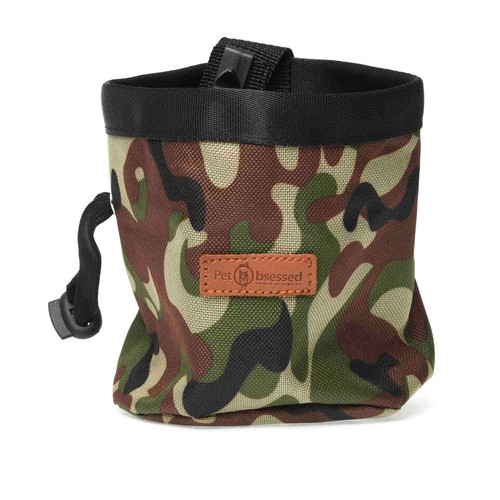 Travelling Attachable Camouflage Pet Treat Pouch