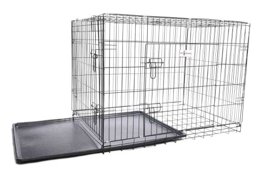Premium Durable 2 Door Dog Crate with Cleaning Tray
