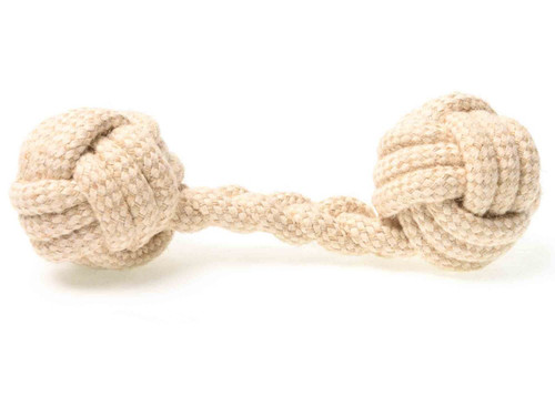 Durable Beige 'Fetch and Chew' Rope Dog Toy