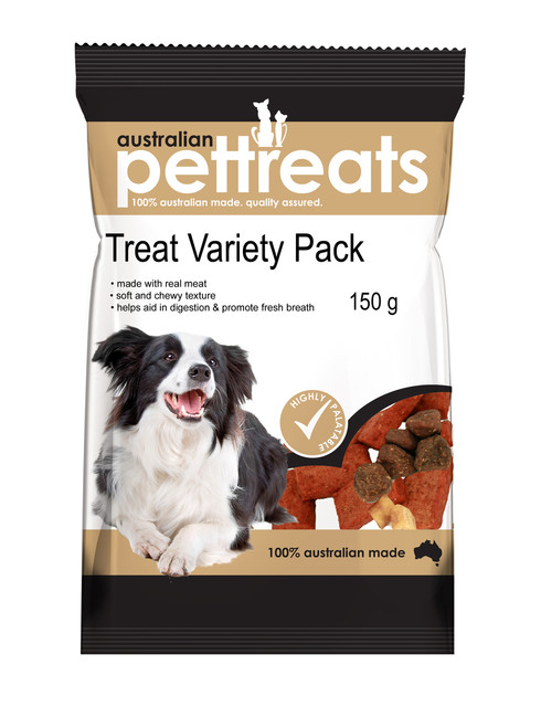 Tasty Soft Chewy Dog Treat Variety Pack 150G