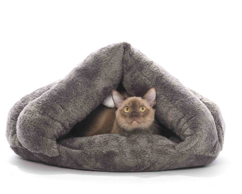 'Cocoon of Comfort' Cat Tent Bed With Hanging Ball