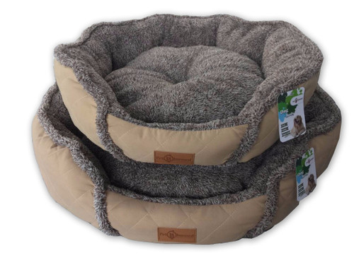 Reversible 'Fluffy Cloud' Cushioned Round Pet Bed