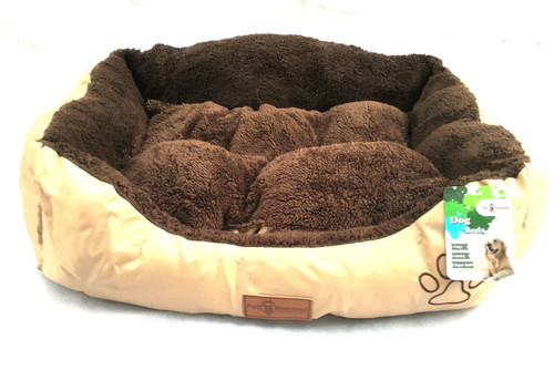 The Pet Obsessed Reversible 'Choccy Snooze' Rectangle Fur Dog Bed