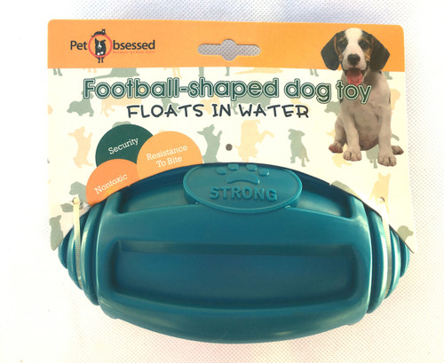 Durable Floating Football Fetch Blue Dog Toy