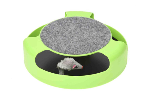 2 in 1 'Circle of Fun' Cat Scratching Mouse Toy