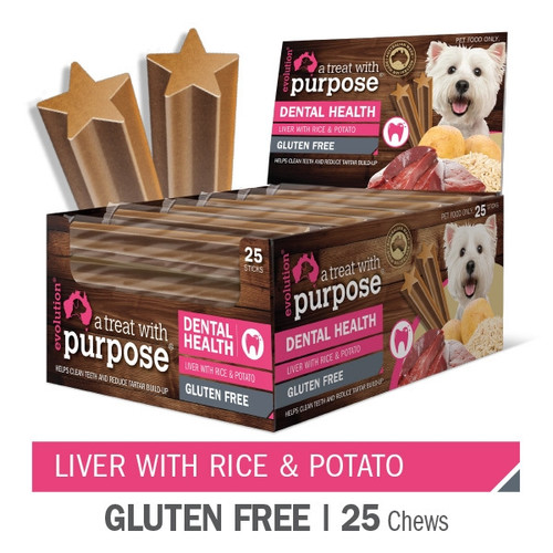 """""""A Dental treat with purpose"""" Liver with Rice & Potato"""