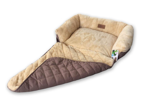 The Pet Obsessed Beige 'Chilled-Out Pup' Soft Pet Sofa Bed