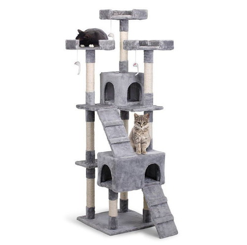 JULIA Large Cat Scratching Tree With Toy Mice