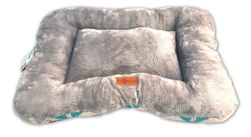 The Pet Obsessed  Flat Cushioned 2-in-1 Grey Pet Bed / Mat