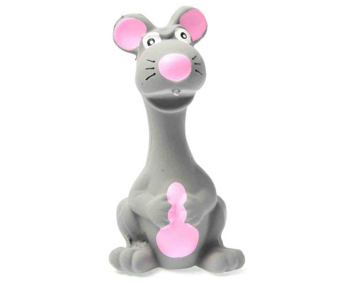 'Mad Mouse' Grey Soft and Strong Mini Squeaking Dog Toy